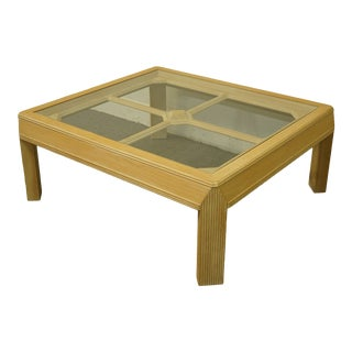 20th Century Contemporary Blonde Accent Coffee Table For Sale
