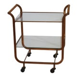 Image of Mid-Century 1950s Bar Cart Copper Clad by Carl Aubock Vienna Austria For Sale