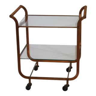 Mid-Century 1950s Bar Cart Copper Clad by Carl Aubock Vienna Austria For Sale
