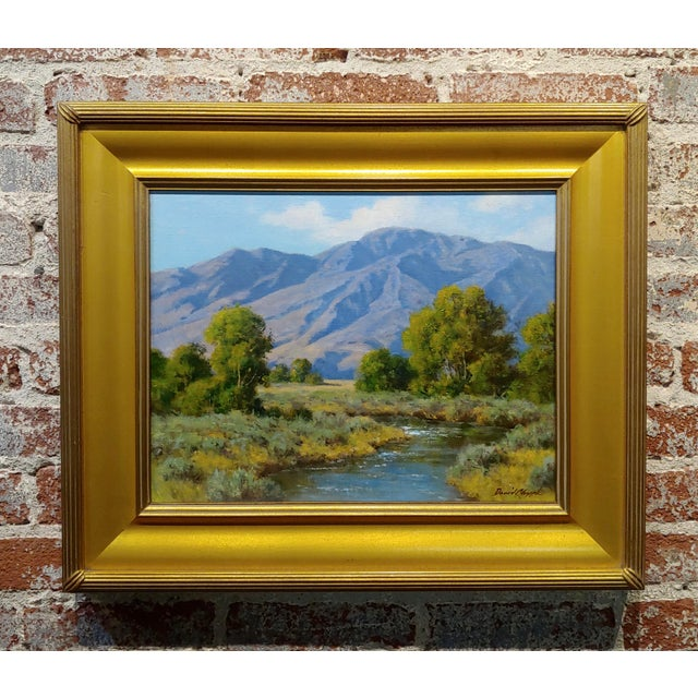 Canvas David Chapple -View of the Owens Valley - Oil Painting For Sale - Image 7 of 7
