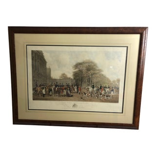 English Hunt Scene Engraving For Sale