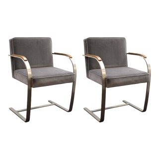 Mies van der Rohe for Knoll Brno Armchairs - a Pair For Sale