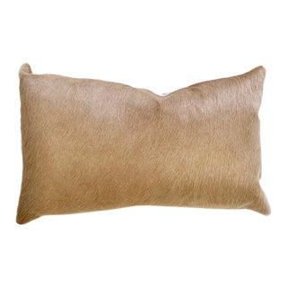 "Forsyth 13x21"" Palomino Brazilian Cowhide Pillow For Sale"
