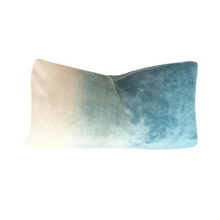"Contemporary French Ombre Velvet 25"" X 18"" Pillow For Sale"