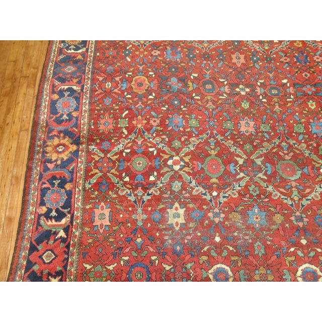 "Antique Persian Mahal Rug - 9'2"" X 13' For Sale - Image 5 of 7"