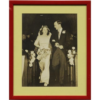 """""""Mr & Mrs Charles Cary"""" Black & White Photo For Sale"""