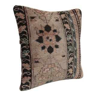 Traditional Vintage Oushak Rug Pillow Cover For Sale