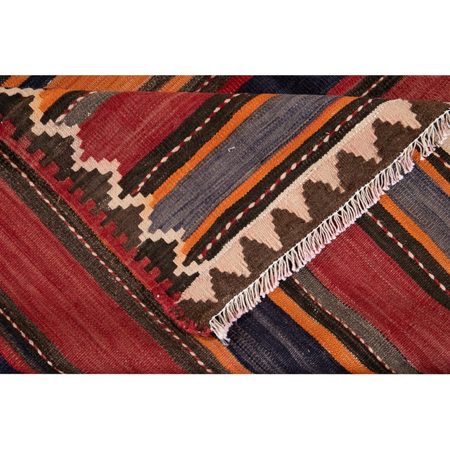"Traditional Mid-20th Century Vintage Kilim Runner Rug 5' 2"" X 10' 10''. For Sale - Image 3 of 13"