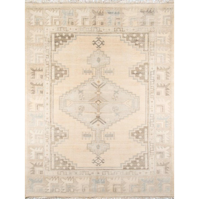 "Erin Gates Concord Walden Beige Hand Knotted Wool Area Rug 5'6"" X 8'6"" For Sale"
