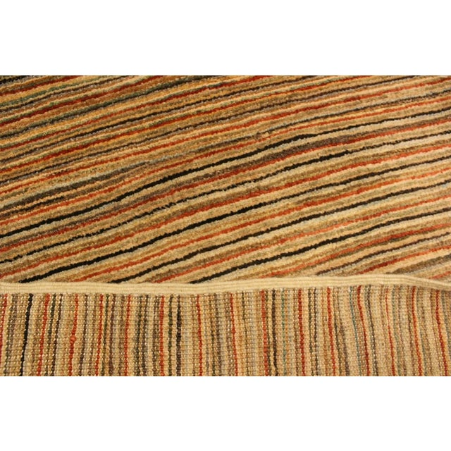 Gabbeh Peshawar Nereida Tan/Rust Hand-Knotted Wool Rug -3'1 X 5'1 For Sale In New York - Image 6 of 8