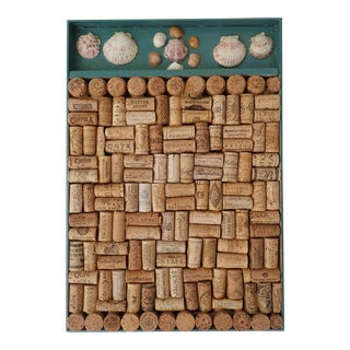 Sea Shells & Wine Bottle Corks Craft Panel For Sale