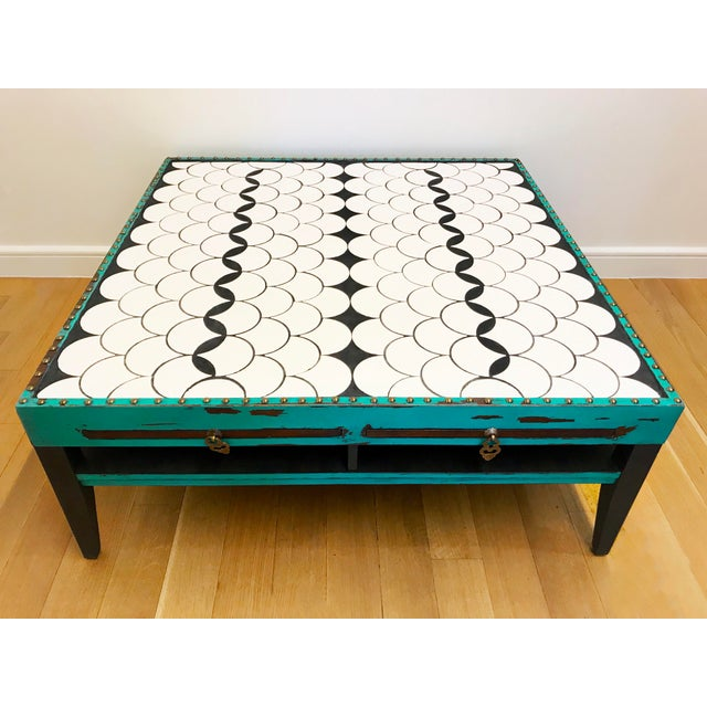Tile Top Coffee Table For Sale - Image 13 of 13