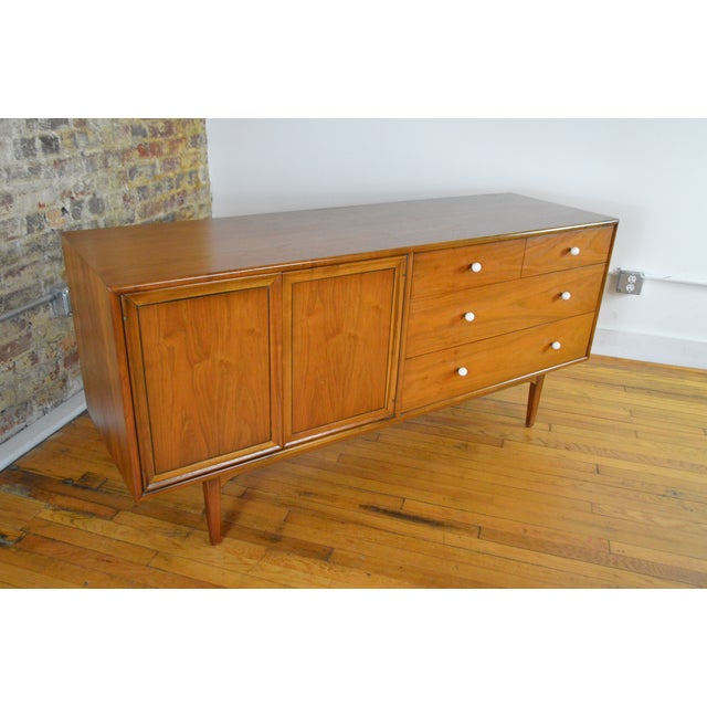 Drexel Declaration Mid Century Modern Walnut Low Chest - a Pair For Sale - Image 9 of 9