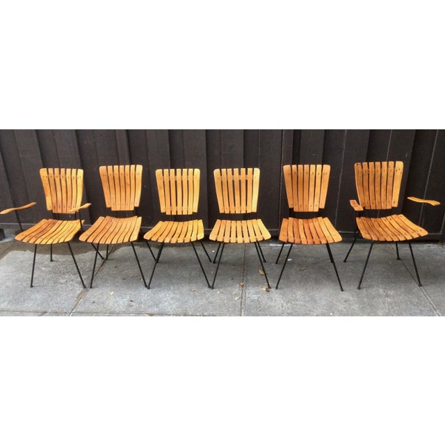 1950s Vintage Umanoff Slat Dining Chairs- Set of 6 For Sale - Image 12 of 13