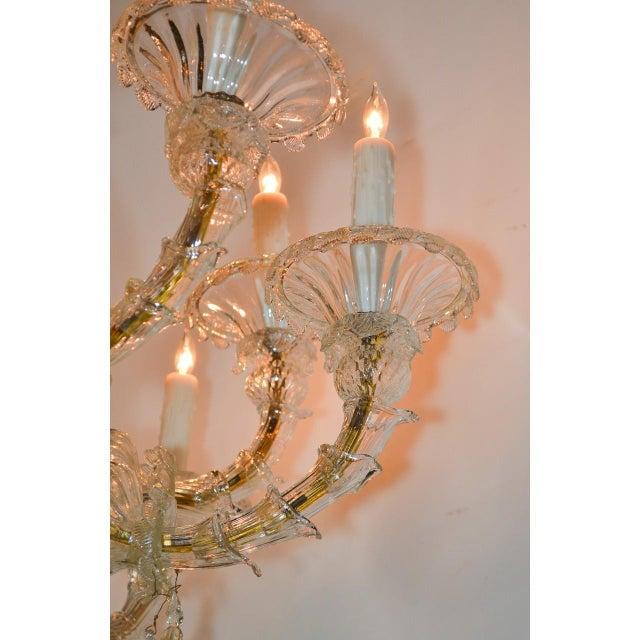 Blown Glass Antique Venetian Multi-Color Blown Glass Chandelier For Sale - Image 7 of 11