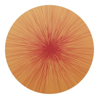 Shadow Lines Placemat in Saffron For Sale