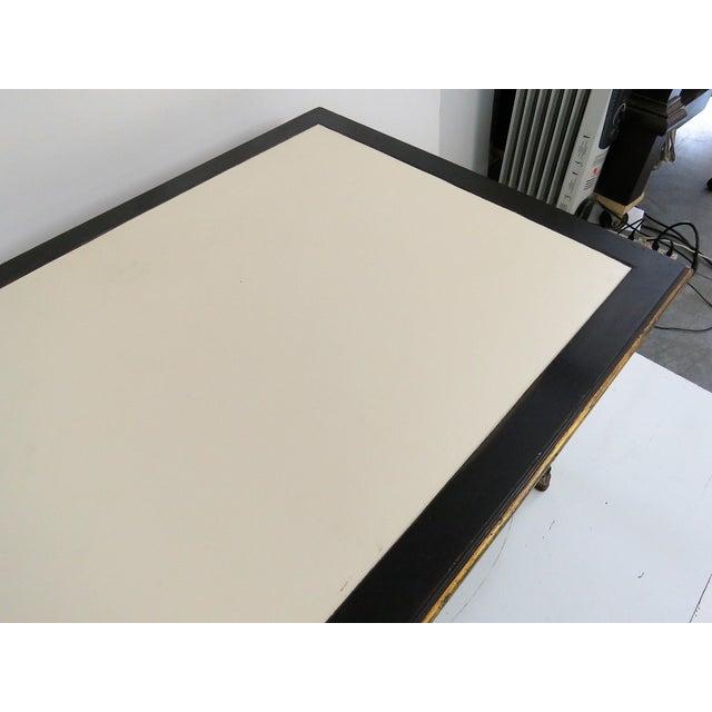Maison Jansen Regency Style Ebonized & Gilt Leathertop Desk - Image 6 of 6