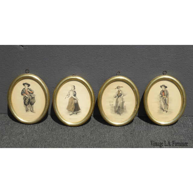 Borghese Etching Picture Prints by Geoffrey Illustration by Relin Girardet - Set of 4 For Sale - Image 13 of 13