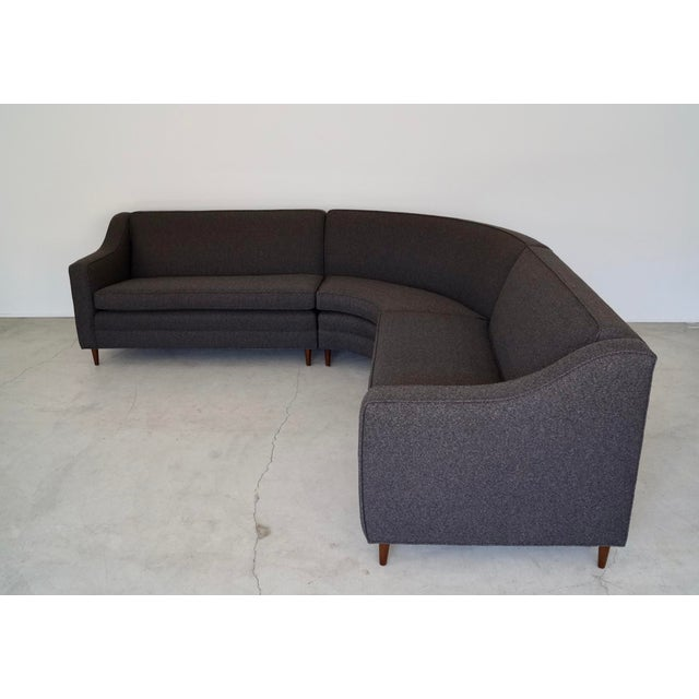 We have this original vintage Mid-century Modern sectional for sale. It's from the 1960's, and has been reupholstered in...