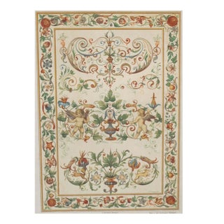 Colorful Decorator Sheet - Cherubs C.1900