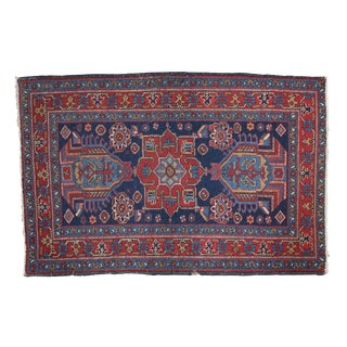 "1930s Persian Distressed Heriz Rug - 3' X 4'6"" For Sale"