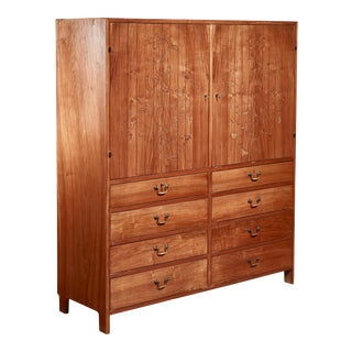 Harbo Sølvsten Walnut Cabinet, Denmark, 1940s For Sale