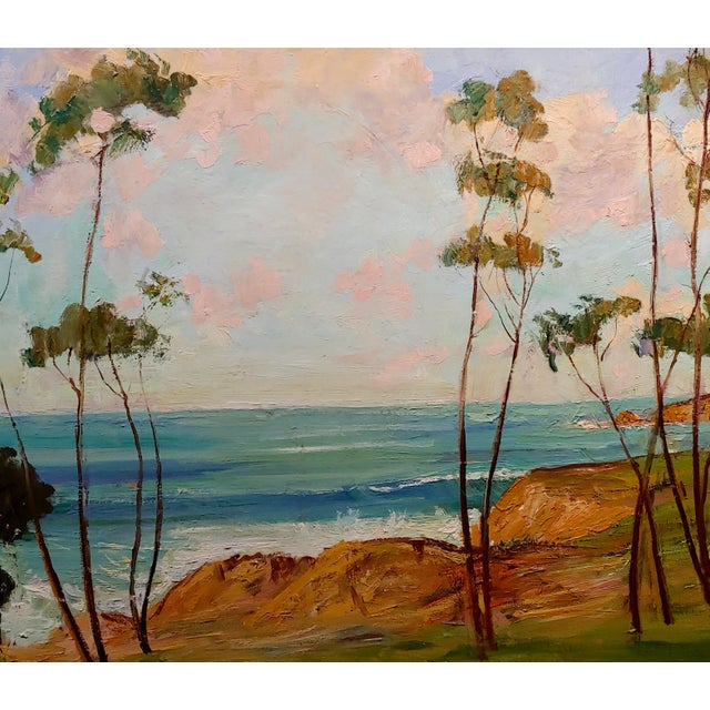 James Arthur Merriam - Beautiful California Coastline - Oil paintingImpressionist oil painting on canvas circa 1930/40s no...