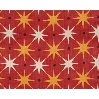 Hinson for the House of Scalamandre Star Power Fabric in Red For Sale