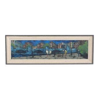Mid-Century Horizontal Cityscape For Sale