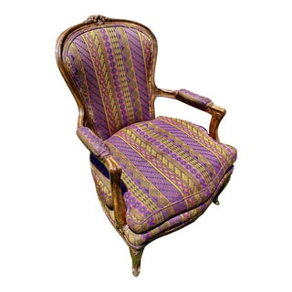 Lewis Mittmanly Upholstered Accent Chair For Sale