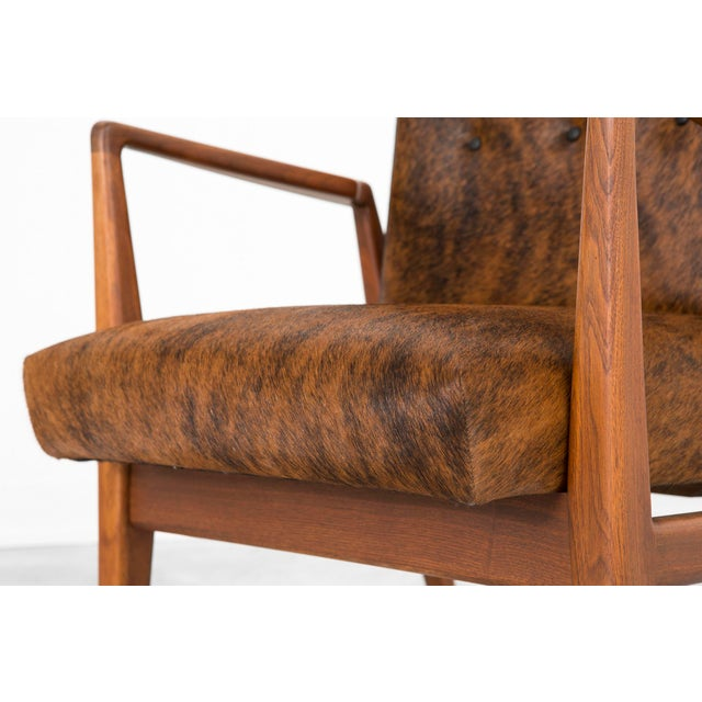 Brown Set of Jens Risom Lounge Chairs For Sale - Image 8 of 12