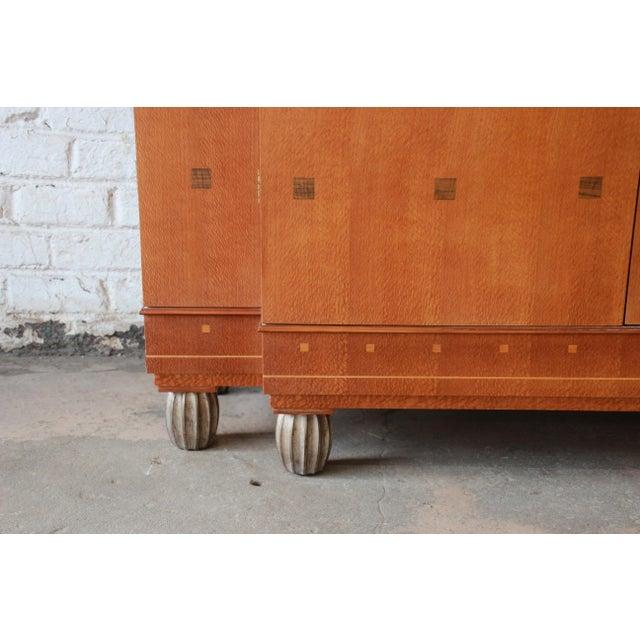 Baker Furniture Art Deco Style Burlwood Armoire - Image 8 of 11