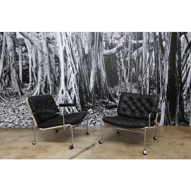 Bruno Mathsson Style Easy Chairs - a Pair - Image 3 of 5
