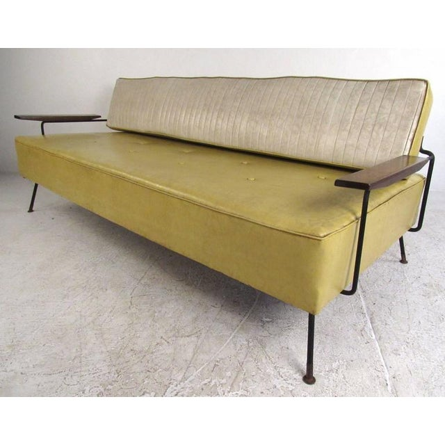Richard McCarthy for Selrite Mid-Century Vinyl Daybed - Image 6 of 10