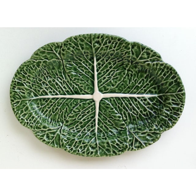 Mid-Century Modern Vintage Majolica Cabbage Serving Dishes - Set of 5 For Sale - Image 3 of 6
