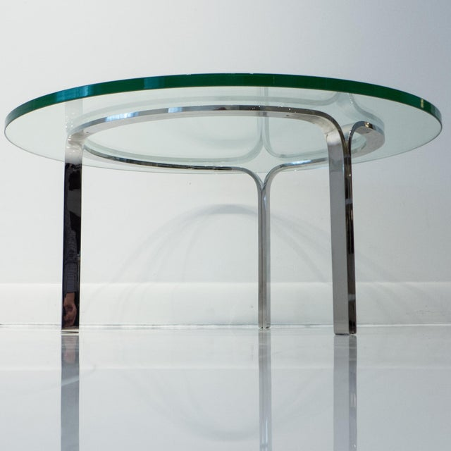Mid-Century Modern Nicos Zographos Ribbon Steel Cocktail Table For Sale - Image 3 of 9