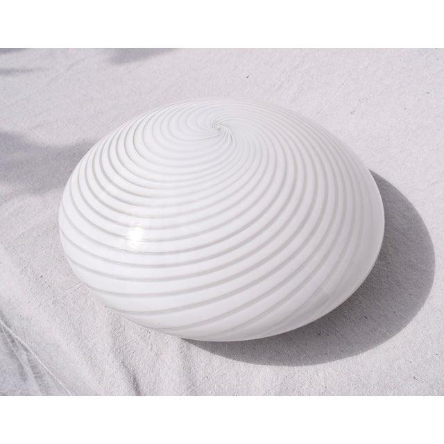 Glass Vetri Murano Swirl Flush Mount Chandelier For Sale - Image 7 of 7