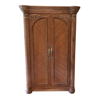 Modern Transitional Brown Wardrobe For Sale
