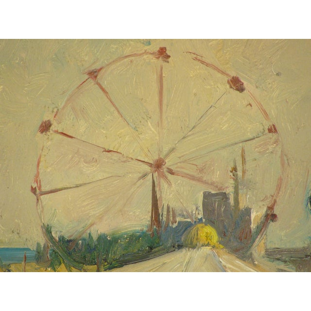 Carnival Scene Painting by Zoma Baitler For Sale In Los Angeles - Image 6 of 13