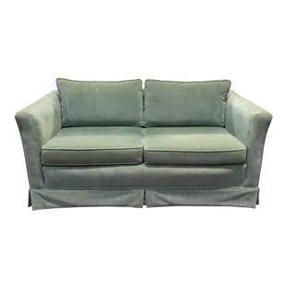 Mint Green Velvet Loveseat For Sale