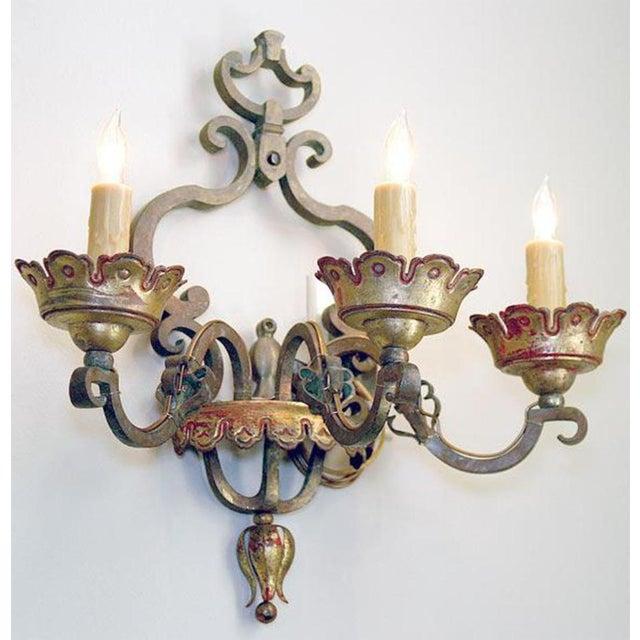 Mid 19th Century Italian Bronze Sconces Pair For Sale - Image 5 of 6
