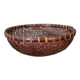 Dark Brown Round Basket