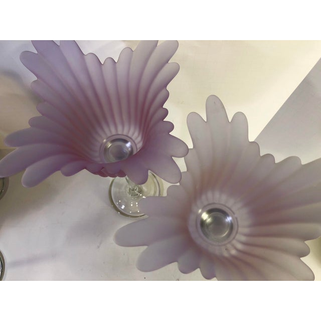 Glass 1970s Vintage Tulip Shaped Candle Holders- Set of 3 For Sale - Image 7 of 9
