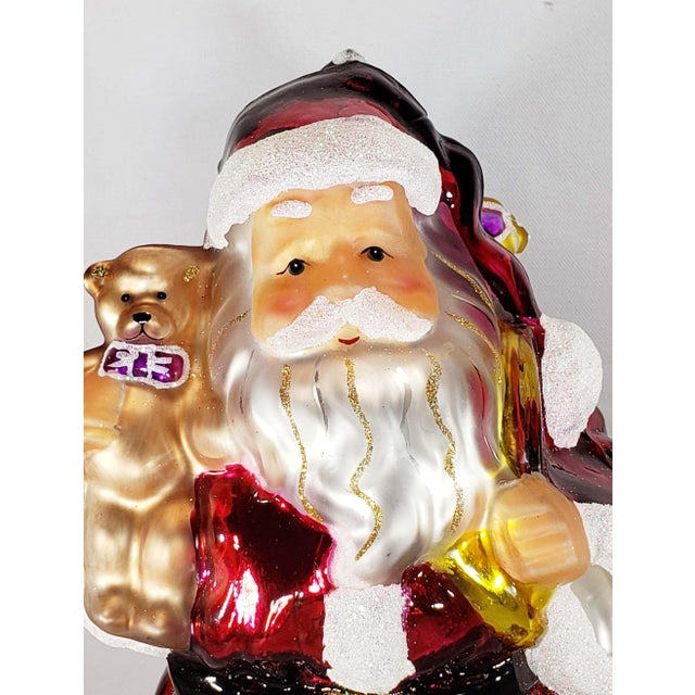 """Authentic Thomas Pacconi Classics 14"""" Glass Blown Handpainted Santa Claus Wonderful large authentic Pacconi """"Santa with..."""