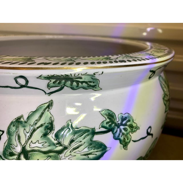 Leaf Motif Jardiniere For Sale - Image 12 of 13