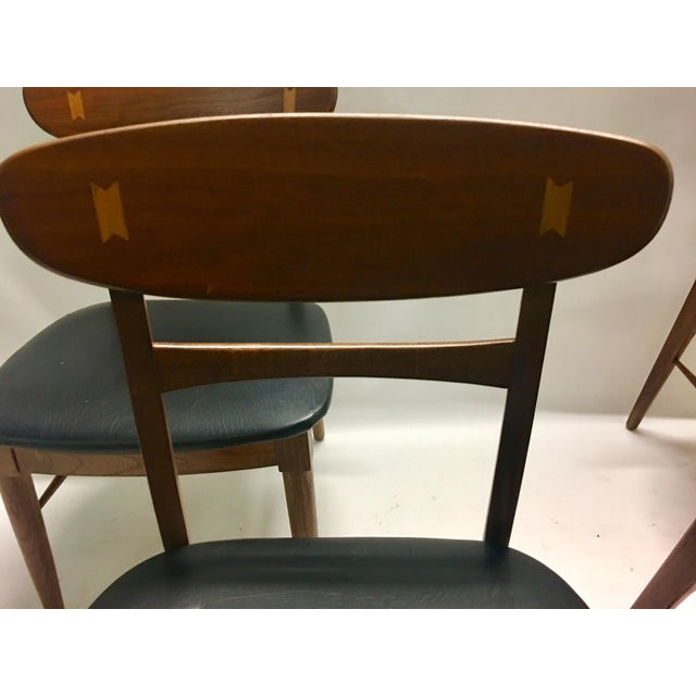 Mid Century Modern Danish Chairs - Set of 4 For Sale In Los Angeles - Image 6 of 12