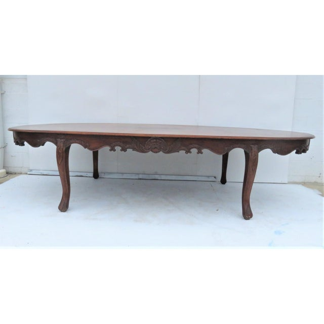 Carved Mahogany Oval Conference Table Chairish - Large oval conference table