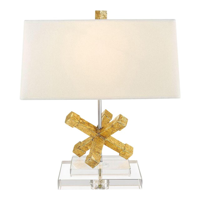 Contemporary Jackson Square Gold Steel Table Lamp For Sale