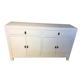 White Lacquered Asian Modern Dresser