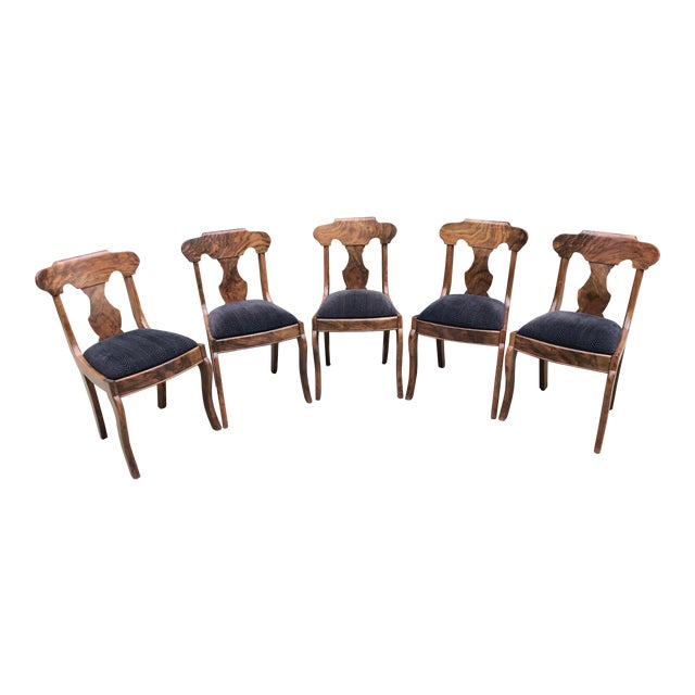 Handmade Burlwood Dining Chairs - Set of 5 - Image 1 of 6